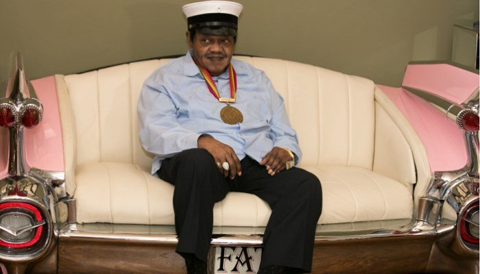 Fats Domino is named Honorary Grand Marshall of the Krewe of Orpheus, the star-studded Carnival club that traditionally parades the night before Mardi Gras. Photo was taken Dec. 20, 2013. (Source: AP)