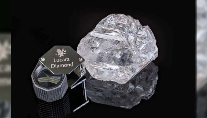 """The Constellation"" is 813 carats and was sold for $63 million. (Source: Lucara Diamons/CNN)"