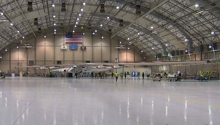 The Solar Impulse only travels 50 mph. (Source: KOKI/CNN)