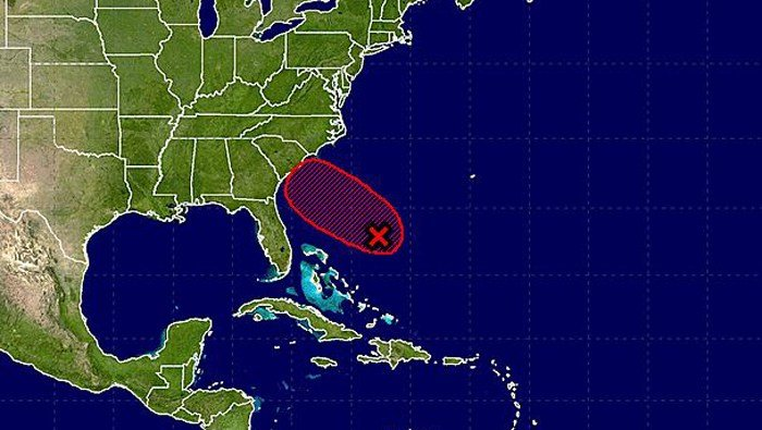 This is the latest area of the U.S. East Coast likely to be affected by a likely tropical storm in the Atlantic. (Source: NOAA)