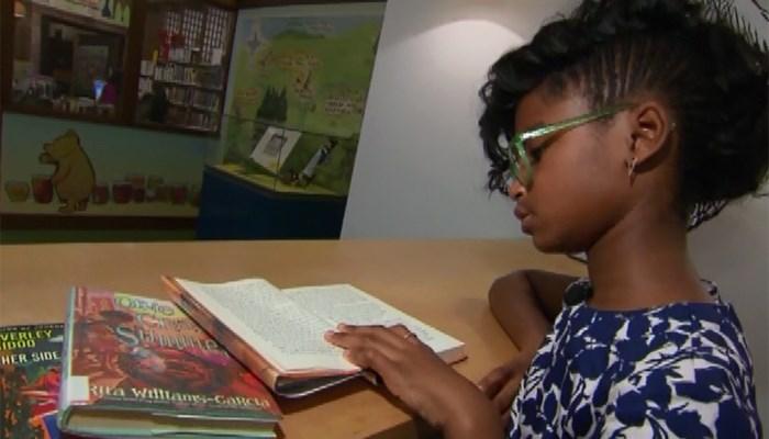 Marley Dias donates diverse books to different cities. (Source: WPIX/CNN/DIAS FAMILY)