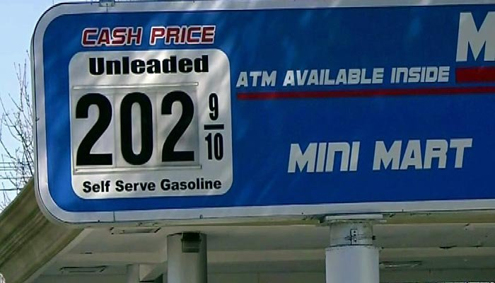 Gas prices dip below $2 a gallon
