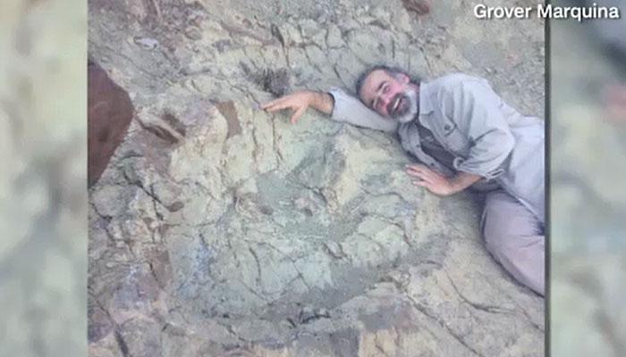 Giant dinosaur footprint found in Bolivia