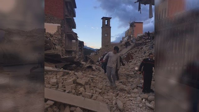Major earthquake rocks central Italy