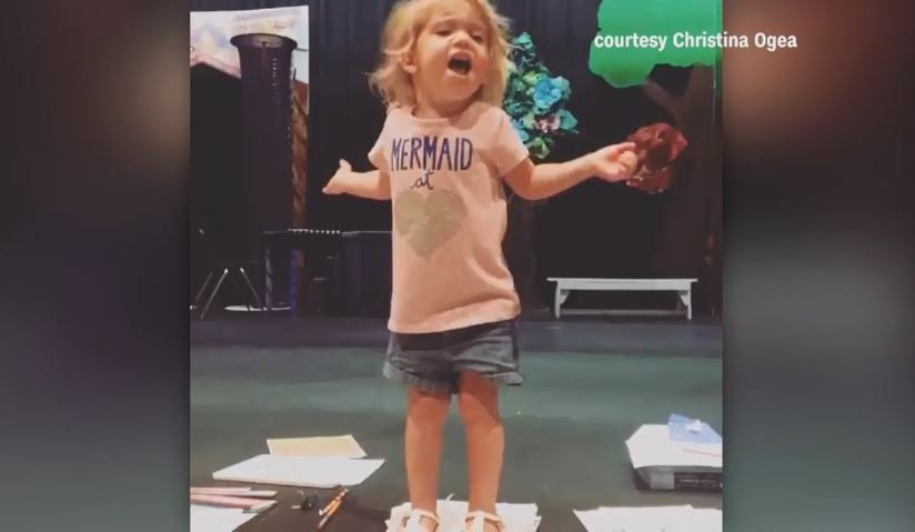 Little girl's passionate Broadway-like rendition of ABC song goes viral