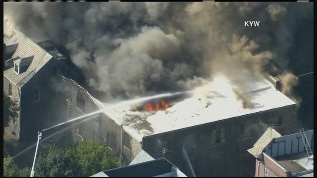 Fire engulfs century-old Presbyterian church in Philadelphia