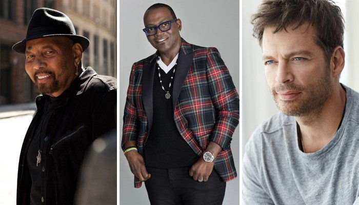 Headliners of the concert include, from left, Aaron Neville, Randy Jackson and Harry Connick Jr. (Source: Handout)
