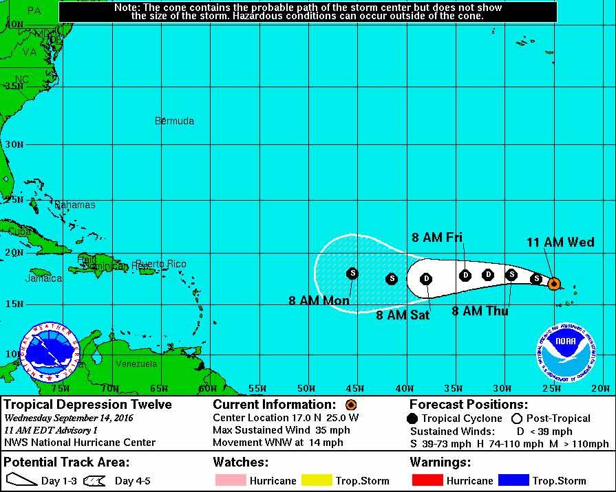 Julia weakens to tropical depression