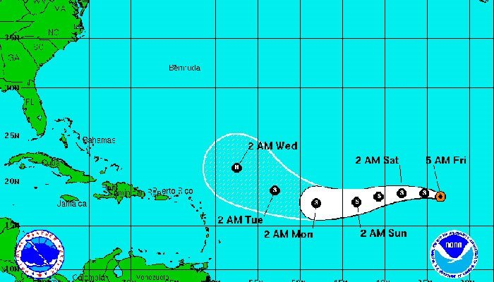 Two tropical storms churn in Atlantic