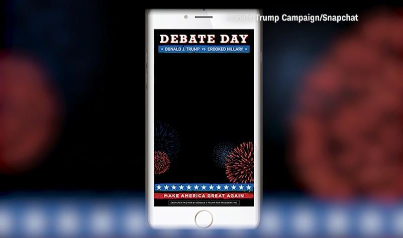 Trump unveils 'crooked Hillary' Snapchat filter for debate