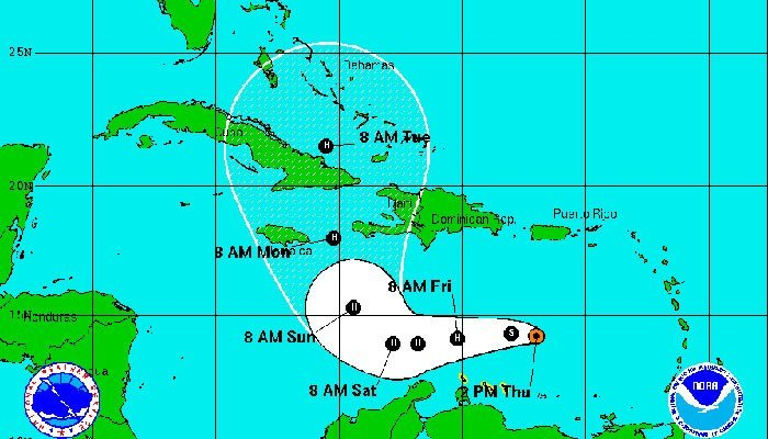 Matthew strengthens into hurricane