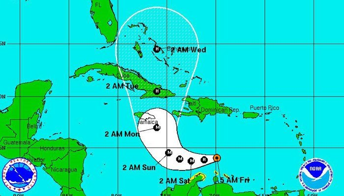 Tropical Storm Matthew forms in the Atlantic