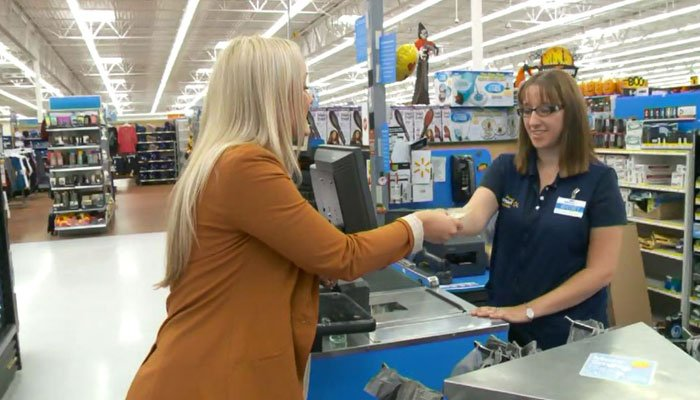 Woman delivered a baby while paying for groceries at Walmart. (Source: KSTU/CNN)