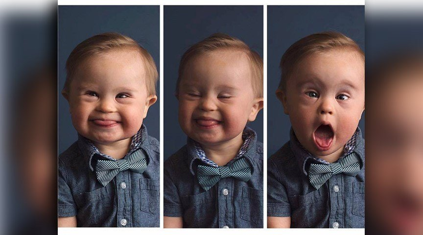 Asher, a 15-month-old boy with Down syndrome, will be the star of an OshKosh B'Gosh modeling campaign after his mom's story of answering a casting call went viral. (Source: Nash family/Facebook)