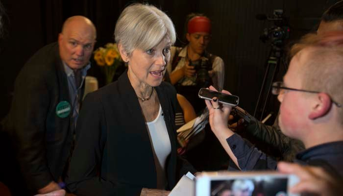 Green Party candidate Jill Stein reached her $2.5 million goal, which would allow her to file for a vote recount in three states. (Source: D. Ross Cameron/AP)