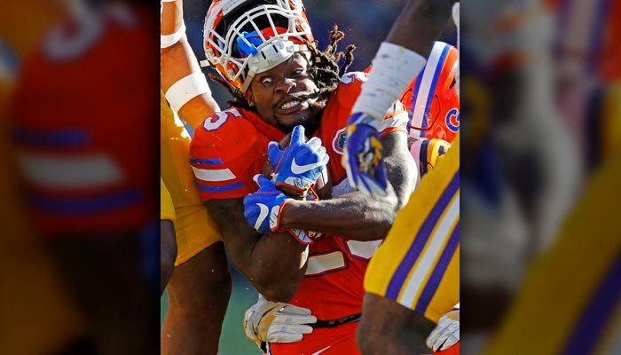 Jordan Scarlett's back-to-back 100-yard performances have given Florida some offensive consistency. (AP Photo/Gerald Herbert)