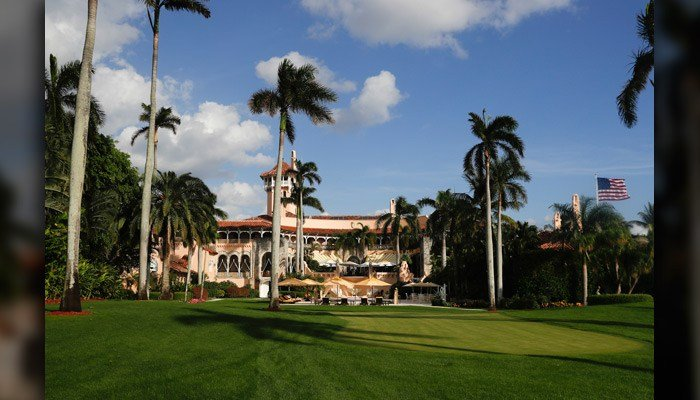 Mar-a-Lago is seen from the media van window Nov. 27 in Palm Beach, FL. Trump's country club was granted permission to hire 64 foreign workers to work through the winter. (AP Photo/Carolyn Kaster)