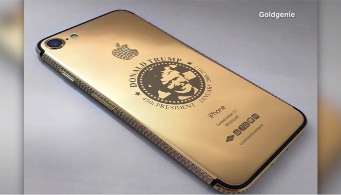 Gold-plated, diamond-encrusted Donald Trump iPhone 7 costs $151K