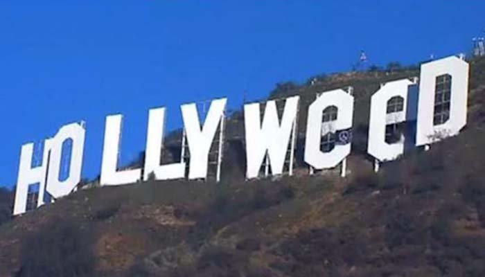 Welcome to Hollyweed: vandal alters iconic Hollywood sign above Los Angeles