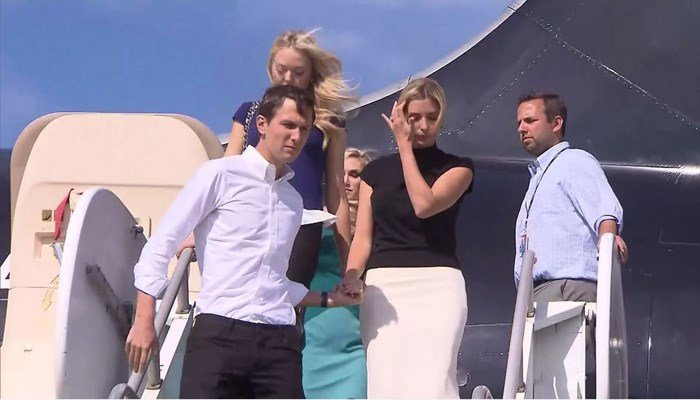 Jared Kushner, shown with wife Ivanka, is expected to be named to the Trump White House. (Source: Pool/CNN)