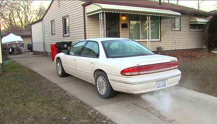 Man gets ticketed for warming up auto in his driveway