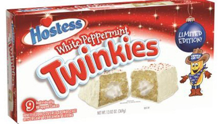 Salmonella concerns have led to the voluntary recall of a limited edition holiday white peppermint variety of Hostess Twinkies. (Source: Hostess Brands LLC/FDA)