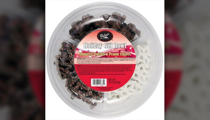 Palmer Candy Company has recalled 22 items, including this holiday gift bowl. (Source: Palmer's)
