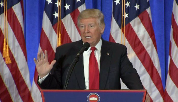 Donald Trump held his first news conference since July on Wednesday.
