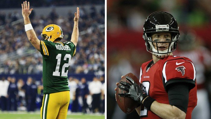 The Green Bay Packers head to Atlanta to face the Falcons Sunday in the NFC Championship game. (Source: AP/Ron Jenkins/John Bazemore)
