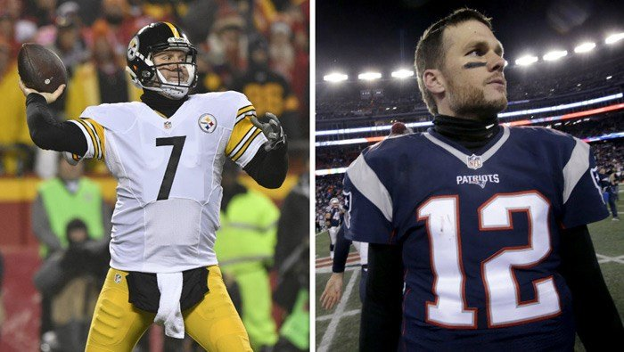 The Pittsburgh Steelers meet the New England Patriots in Foxborough, MA, on Sunday to decide who will represent the AFC in Super Bowl LI. (Source: AP/Ed Zurga/Steven Senne)