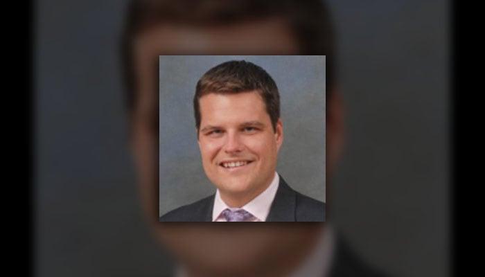 Rep. Matt Gaetz (R-FL) introduced the bill. It is the first bill he has proposed. (Source: @Rep_Matt_Gaetz/Twitter)