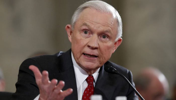 Jeff Sessions  testifies on Capitol Hill in Washington, Tuesday, Jan. 10, 2017, at his confirmation hearing before the Senate Judiciary Committee. (Source: AP Photo/Alex Brandon)