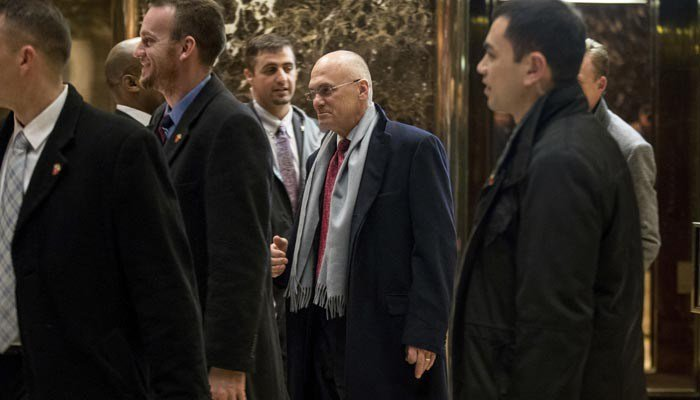 Andrew Puzder's nomination for labor secretary may be running onto the rocks. (Source: AP)