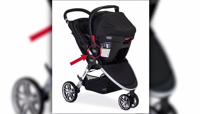 The Britax recall affects 676,000 B-Agile and BOB Motion strollers, the U.S. Consumer Product Safety Commission said. (Source: U.S. Consumer Product Safety Commission/CNN)