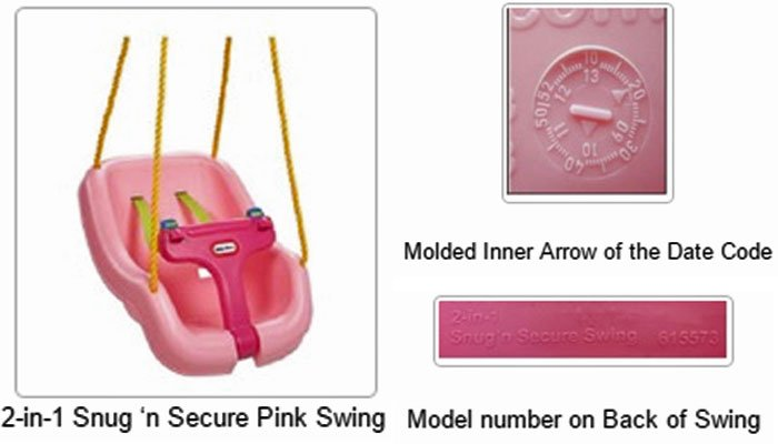 Little Tikes is recalling swings that have cracked or broken and caused injuries to children.  (Source: LIttle Tikes/USCPSC)