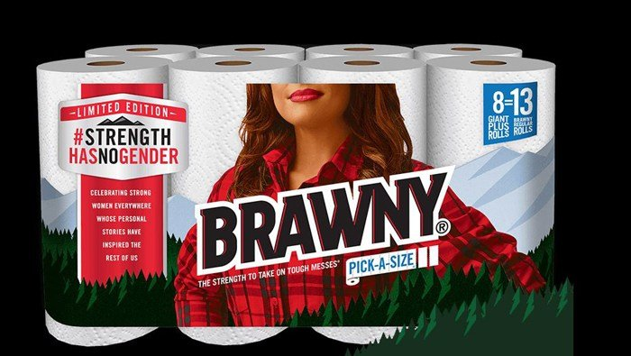 New packaging.  (Source: Brawny)