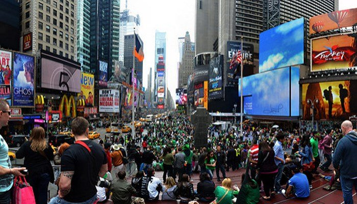 New York City is home to the largest St. Patrick's Day celebration in the world. The holy day of March 17 only became the celebration it is today in the 1800's, with Irish immigrants to the US leading the way.. (Source: tsalproject/Flickr)