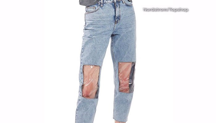 Nordstrom's newest jeans can help wearers show off their fabulous knees. (Source: Nodstrom/Topshop/CNN)