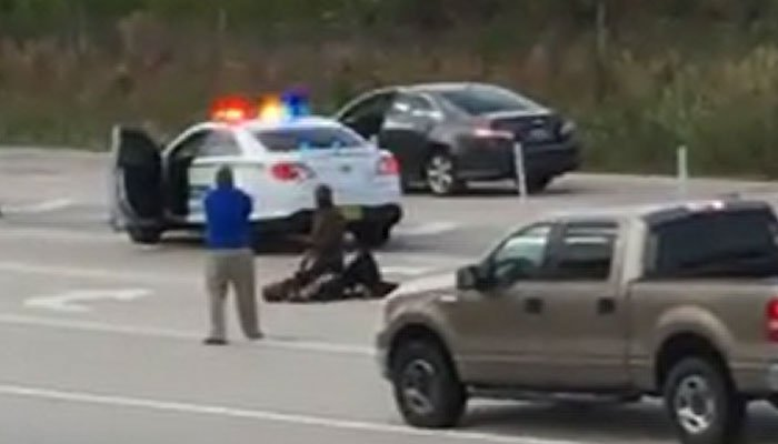 Cellphone footage captures armed citizen saving deputy by shooting his attacker