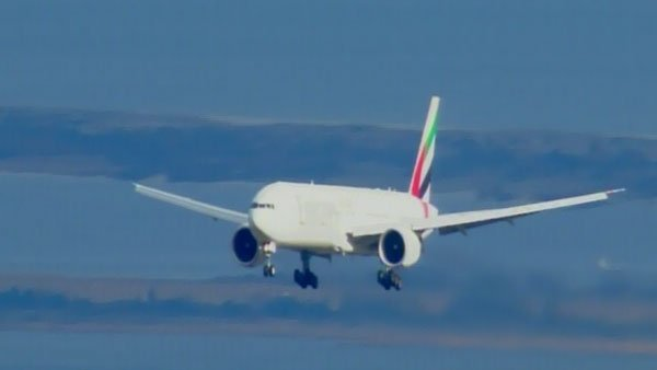 A United Arab Emirates passenger plane was escorted by fighter jets and forced to land at JFK Airport Friday. (Source: CNN)