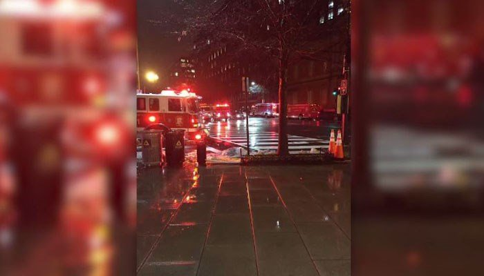 Fire engines gathered near the White House late Saturday night. (Source: CNN)