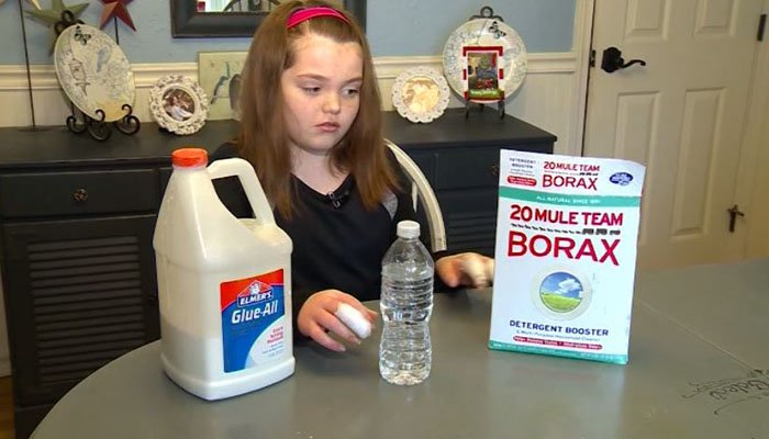 Girl burned by homemade slime — GRAPHIC
