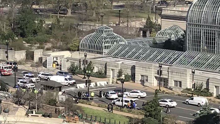 Shots were fired near the U.S. Capitol and the U.S. Botanical Gardens
