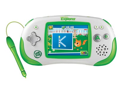 The Leapster Explorer provides an interactive learning experience for kids ages 4-9. (Source: Leap Frog)