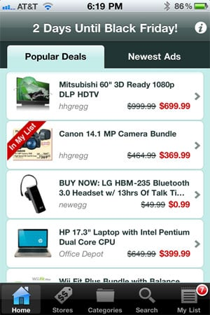 TGI Black Friday lets you view popular deals, compare prices and make list on your phone.