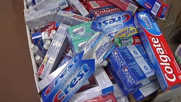 Toothpaste and tooth brushes are among the items most requested by troops serving overseas. (Source: KLTV)