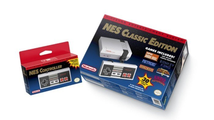 Nintendo's NES Classic Edition, a mini-NES replica in appearance with 30 classic games preloaded, was released in November. Demand for it far exceeded supplies, with many stores selling out. (Source: Business Wire/Nintendo of America)