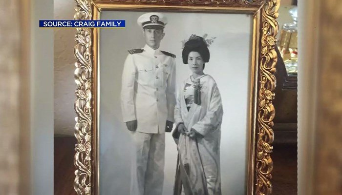 Craig served in the Navy during World War II. He is seen here with his wife Harue. (Source: Craig family/KPIX/CNN)