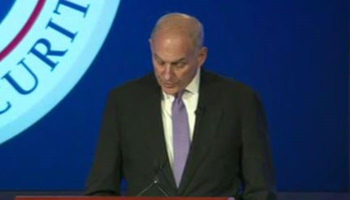 Homeland Security Secretary John Kelly talked about threats to the U.S. on Tuesday. (Source: CNN)
