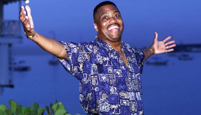Cuba Gooding Sr., lead vocalist of the legendary R & B pop group The Main Ingredient, and father of Oscar winning actor Cuba Gooding Jr., gestures during an interview in Bridgetown, Barbados, Wednesday, Aug. 18, 1999. (Source: AP Photo/Chris Brandis)